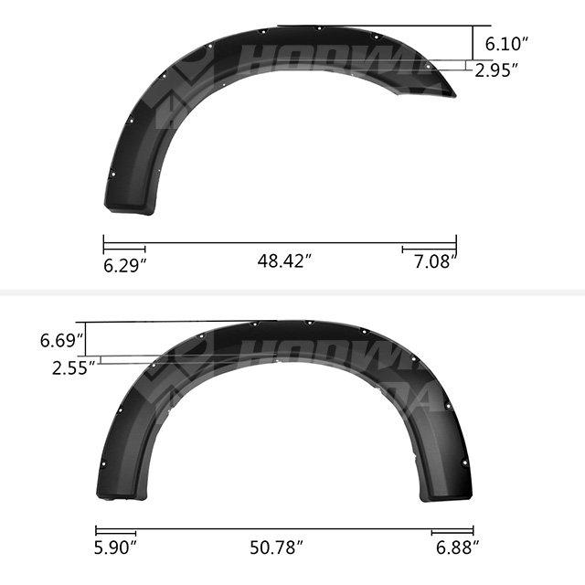 1999-2007 Ford F250 F350 Super Duty Pocket Style Fender Flares