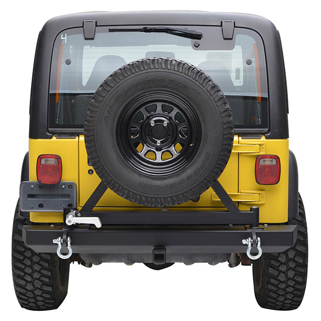 87-06 Jeep Wrangler YJ/TJ Classic Rear Bumper with Tire Carrier for Jeep Wrangler TJ