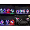 Starry Sky LED/HID Headlights 7 Color Options (PAIR) for Jeep Wrangler JK