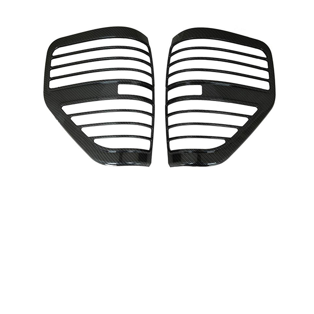 09-14 Carbon Fiber Look ABS Tail Light Bezels for Ford F150