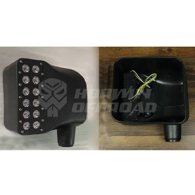 Led Side Mirror with Double Row Turning Signal Light for Jeep Wrangler JK