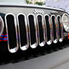 Chrome Circle of Grille for Jeep Wrangler JK