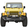 87-06 Jeep Wrangler YJ/TJ Heavy Duty Rock Crawler Front Bumper with Light Guard for Jeep Wrangler TJ