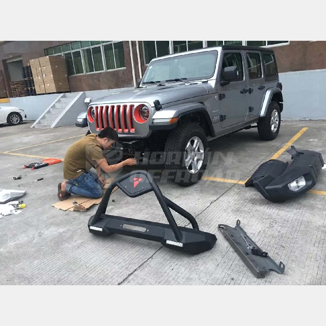 Jeep Wrangler JL Front Bumper with Led Lights