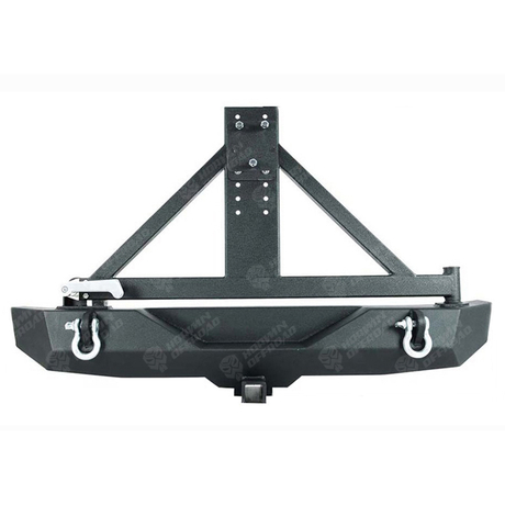 Rear Bumper with Spare Tire Carrier for Jeep Wrangler JK