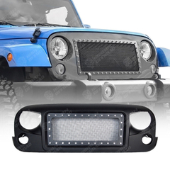 Grille with Bright Rivets For Jeep Wrangler JK