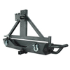 Rear Bumper with Triangular Spare Tire Carrier for Jeep Wrangler JK