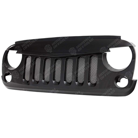 V-shape Grille-Matte Finishing (ABS) with PLASTIC Mesh For Jeep Wrangler JK