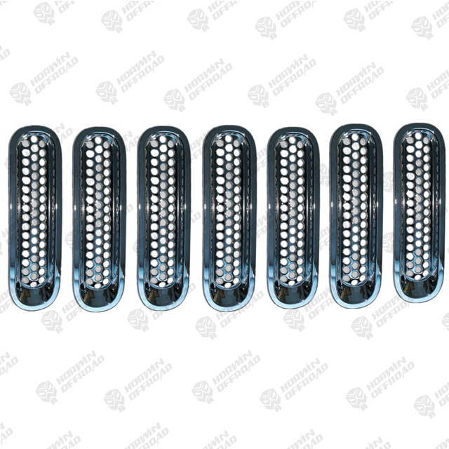 Chrom Bright Circle of Grille (set) For Jeep Wrangler JK