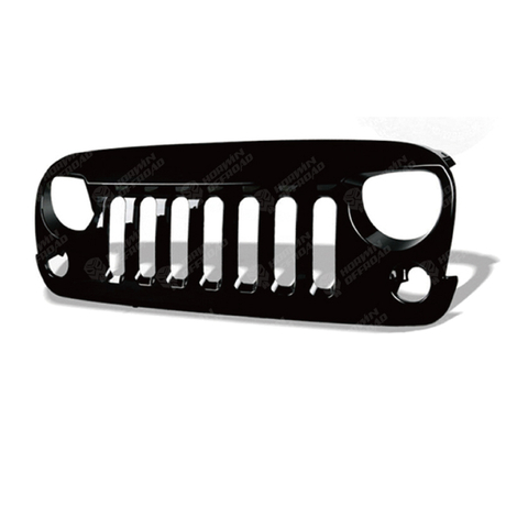 V-shape Grille-Gloss Finishing (ABS) With/Without Mesh For Jeep Wrangler JK