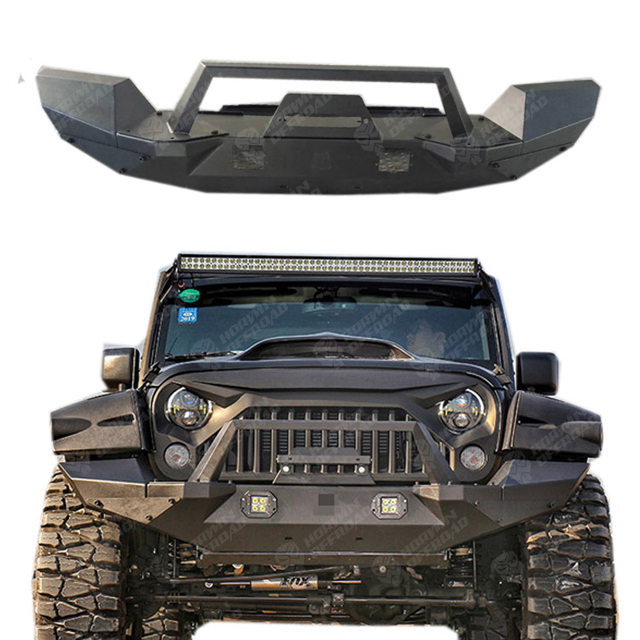 Front Bumper with Led Lights for Jeep Wrangler JK